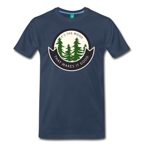 Men's Its the Wood T-Shirt - navy