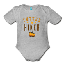 Load image into Gallery viewer, Future Hiker Baby Bodysuit - heather gray
