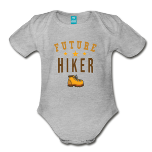 Future Hiker Baby Bodysuit - heather gray
