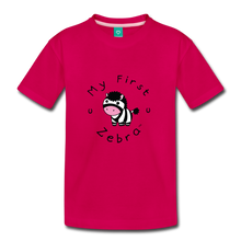 Load image into Gallery viewer, Kids' My First Zebra T-Shirt - dark pink
