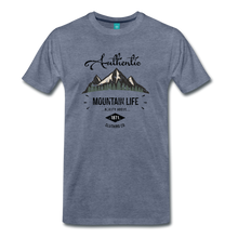 Load image into Gallery viewer, Men's Dark Authentic Mountain Life Clothing Co. T-Shirt - heather blue
