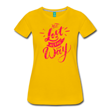 Load image into Gallery viewer, Women's Get Lost Along the Way T-Shirt - sun yellow