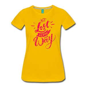 Women's Get Lost Along the Way T-Shirt - sun yellow