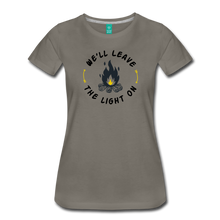 Load image into Gallery viewer, Women's We'll Leave the Light On T-Shirt - asphalt