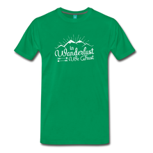 Load image into Gallery viewer, Men's Wanderlust T-Shirt (white) - kelly green