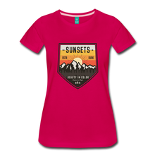 Load image into Gallery viewer, Women's Sunset T-Shirt - dark pink