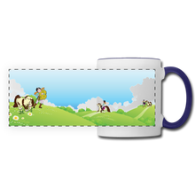 Load image into Gallery viewer, Horse on a Spring Day Mug - white/cobalt blue