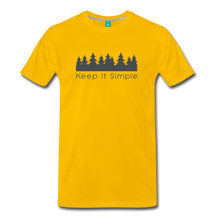 Load image into Gallery viewer, Men's Keep It Simple T-Shirt - sun yellow