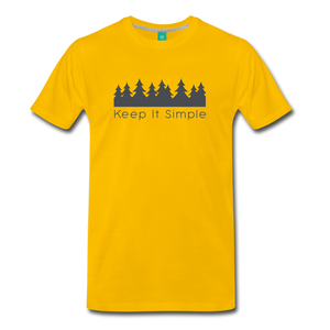 Men's Keep It Simple T-Shirt - sun yellow