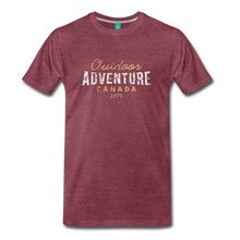 Load image into Gallery viewer, Men's Outdoor Adventure Canada T-Shirt - heather burgundy