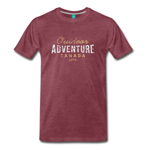 Men's Outdoor Adventure Canada T-Shirt - heather burgundy