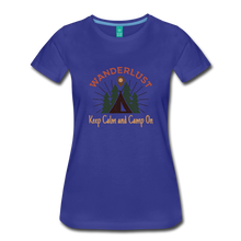 Load image into Gallery viewer, Women's Keep Calm, Camp On - royal blue