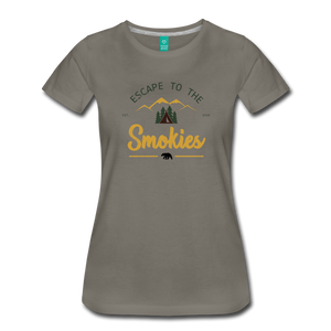 Women's Escape to the Smokies T-Shirt - asphalt