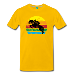 Men's Jumping Sun T-Shirt - sun yellow