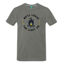 Load image into Gallery viewer, Men's We'll Leave the Light On T-Shirt - asphalt