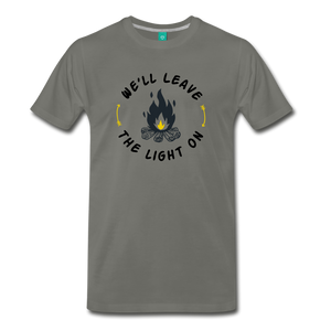 Men's We'll Leave the Light On T-Shirt - asphalt