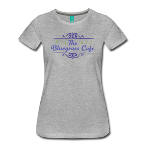 Women's The Bluegrass Cafe (swirl) T-Shirt - heather gray