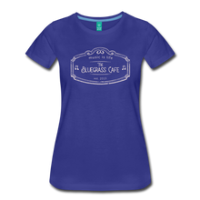 Load image into Gallery viewer, Women's The Bluegrass Cafe (music is life) T-Shirt - royal blue