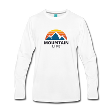 Load image into Gallery viewer, Men's Mountain Life Long Sleeve Shirt - white