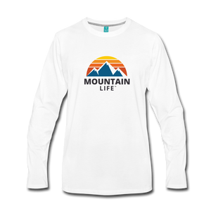 Men's Mountain Life Long Sleeve Shirt - white