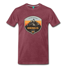 Load image into Gallery viewer, Men's Hiking T-Shirt - heather burgundy