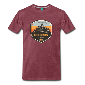 Men's Hiking T-Shirt - heather burgundy