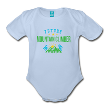 Load image into Gallery viewer, Future Mountain Climber Baby Bodysuit - sky