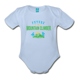 Future Mountain Climber Baby Bodysuit - sky