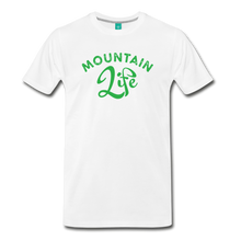 Load image into Gallery viewer, Men's Mountain Life (script) T-Shirt - white