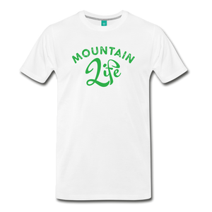 Men's Mountain Life (script) T-Shirt - white
