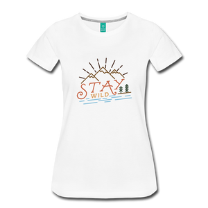 Women's Stay Wild T-Shirt - white