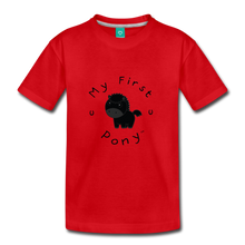 Load image into Gallery viewer, Kids' My First Pony T-Shirt (black) - red