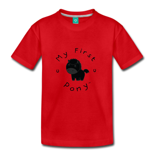 Kids' My First Pony T-Shirt (black) - red