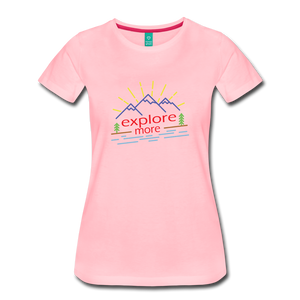 Women's Colored Explore More T-Shirt - pink
