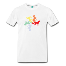 Load image into Gallery viewer, Men's Rainbow Horse Circle T-Shirt - white