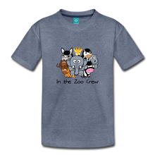 Load image into Gallery viewer, Toddler In the Zoo Crew T-Shirt - heather blue