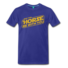 Load image into Gallery viewer, Men's May The Horse be with You T-Shirt - royal blue