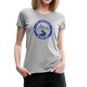 Women's Obstacle is the Way T-Shirt - heather gray