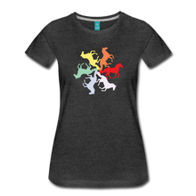 Load image into Gallery viewer, Women's Rainbow Horse Circle T-Shirt - charcoal gray