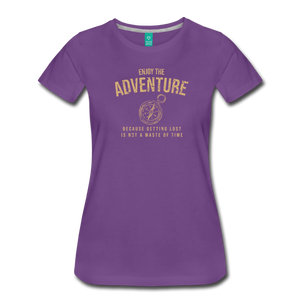 Women's Enjoy the Adventure T-Shirt - purple