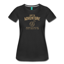 Load image into Gallery viewer, Women's Enjoy the Adventure T-Shirt - black
