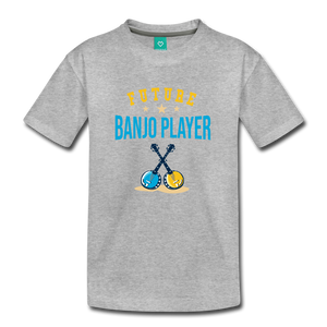 Kids' Future Banjo Player T-Shirt - heather gray