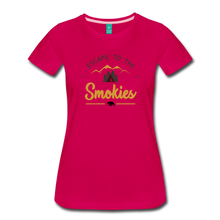 Load image into Gallery viewer, Women's Escape to the Smokies T-Shirt - dark pink
