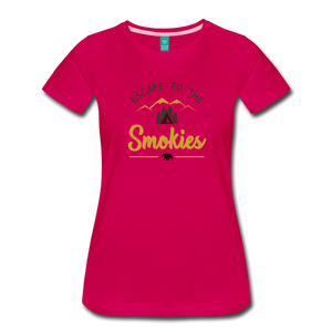 Women's Escape to the Smokies T-Shirt - dark pink