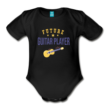Load image into Gallery viewer, Future Guitar Player Baby Bodysuit - black