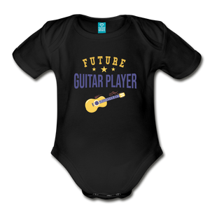 Future Guitar Player Baby Bodysuit - black