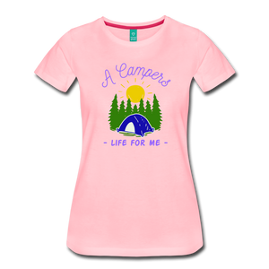Women's Campers Life T-Shirt - pink