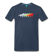 Load image into Gallery viewer, Men's Retro Rainbow Horse T-Shirt - navy