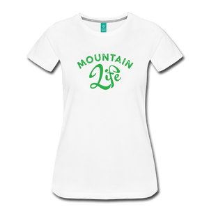 Women's Mountain Life (script) T-Shirt - white