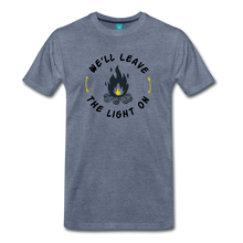 Load image into Gallery viewer, Men's We'll Leave the Light On T-Shirt - heather blue